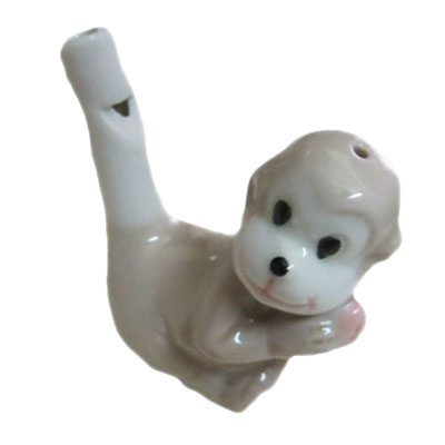 ceramic lovely monkey shape water whistle
