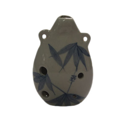 antique chinese style ceramic ocarina