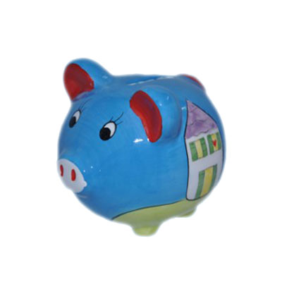 personalized pig coin saving box