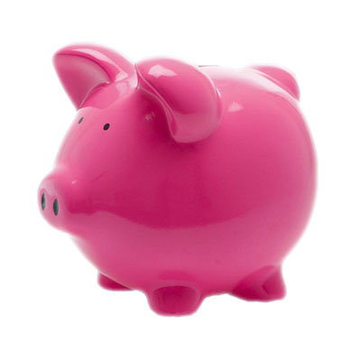 red pig money bank coin bank