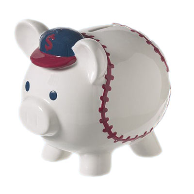 Ceramic Golf Piggy Money Bank