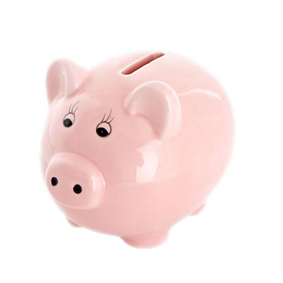 ceramic pink piggy money box coin box