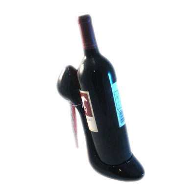 hot selling high heel wine holder