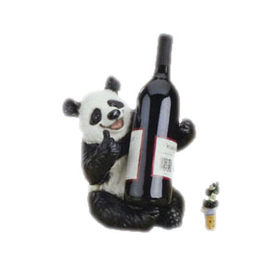 resin panda wine bottle stand
