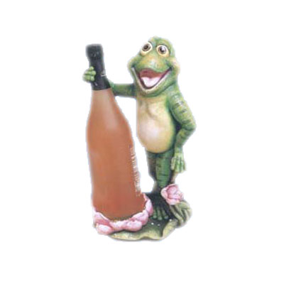 standing frog holding wine bottle wine bottle stand