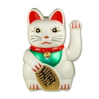 porcelain Japanese maneki neko lucky cats