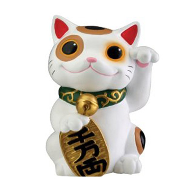 ceramic money cat welcoming cat