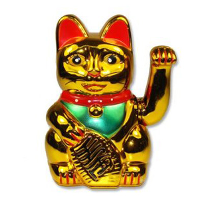 golden maneki neko porcelain gifts