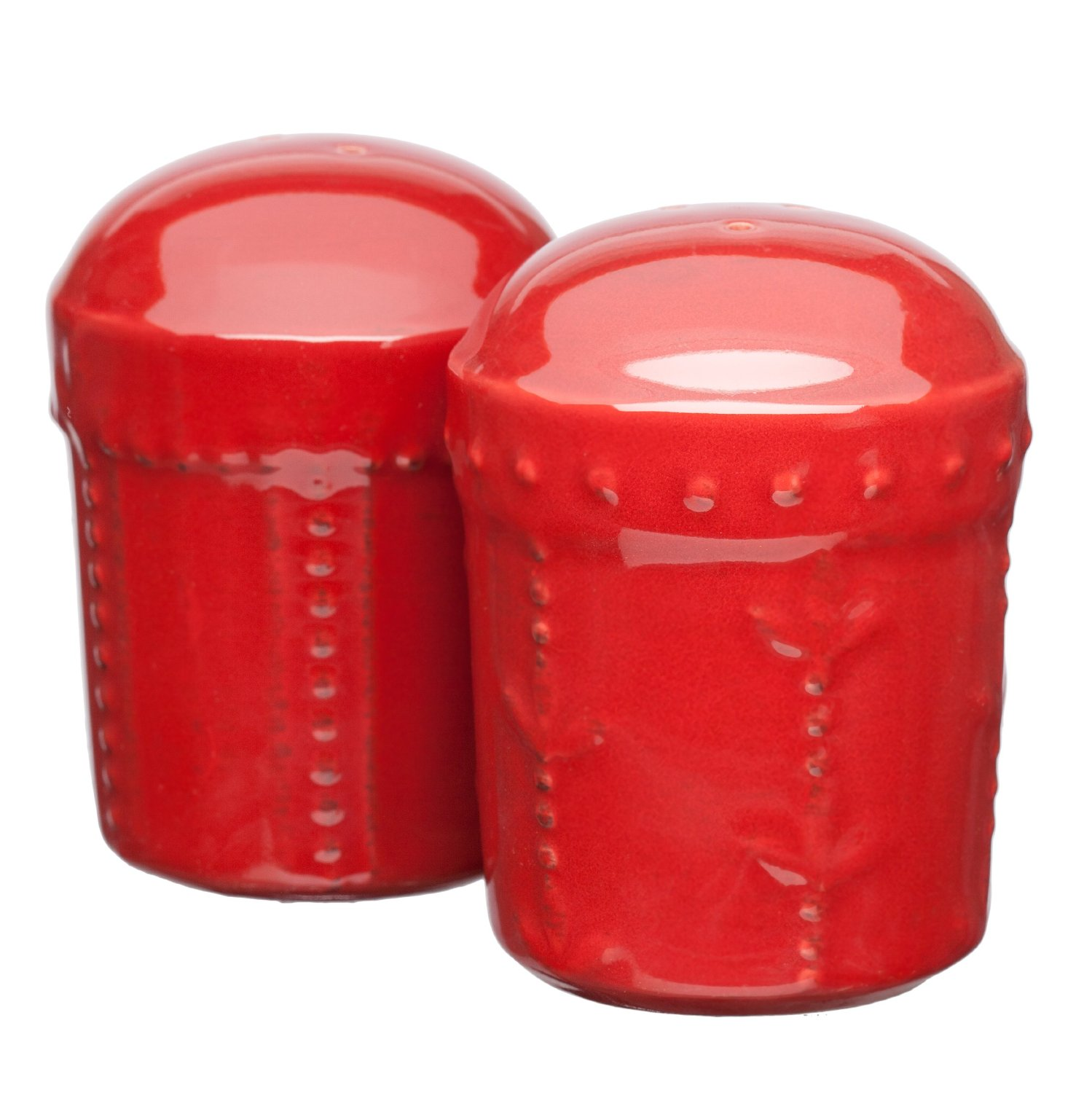 Red salt and pepper shaker