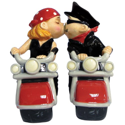 Biker Couple Salt and Pepper Shaker