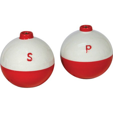 ceramic ball Fishing Bobber Shaped Salt and Pepper Shaker